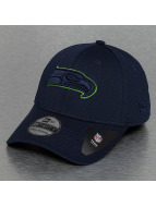 New Era Flexfitted Cap NFL Seattle Seahawks Mesh Outline blau