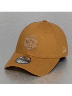 New Era Flexfitted Cap Era Stretch Hex Canvas 39Thirty brown