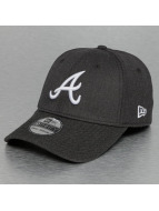 New Era Flexfitted Cap MLB Heather Visor Atlanta Braves 39Thirty grijs