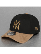 New Era Flexfitted Cap Poly Suede Mix NY Yankees schwarz