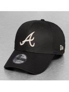 New Era Flexfitted Black Base Atlanta Braves noir
