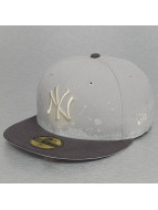 New Era Gorra plana FL Pannel Splatter New York Yankees 59Fifty gris