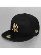 New Era Gorra plana NY Yankees negro