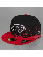 New Era Gorra plana Splatter Carolina Panthers negro