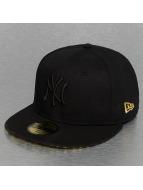 New Era Gorra plana Leopard New York Yankees negro
