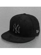 New Era Gorra plana Cord Front New York Yankees negro