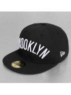 New Era Hip hop -lippikset Basic Wordmark Brooklyn Nets 59Fifty musta