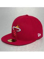 New Era Hip hop -lippikset NBA Basic Reverse Miami Heat 59Fifty punainen