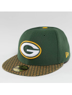 New Era Hip hop -lippikset NFL On Field Green Bay Packers 59Fifty vihreä