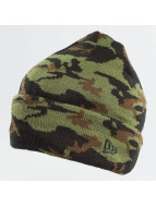 New Era Luer New Era Camo Cuff Beanie Woodland kamuflasje
