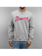 New Era Pullover MLB Atlanta Braves grau