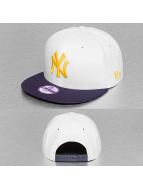 New Era Snapback Junior Camo Speckle New York Yankees blanc