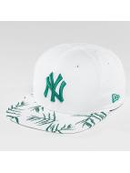 New Era Snapback Sandwash Visor Print NY Yankees blanc