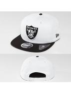 New Era Snapback Contrast Crown Oakland Raiders 9Fifty blanc