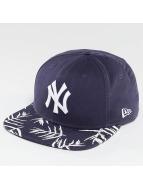 New Era Snapback Sandwash Visor Print NY Yankees bleu
