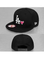 New Era Snapback Cap With Hearts black