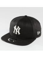 New Era Snapback Cap Linen Felt NY Yankees Cooperstown black