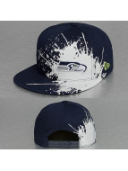 New Era Snapback Cap Splatways Seattle Seahawks 9Fifty blau