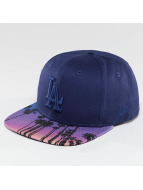 New Era Snapback Cap West Coast Visor Print LA Dodgers blau