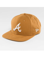New Era Lightweight Essential Atlanta Braves 9Fifty Snapback Cap Rust/Optic White