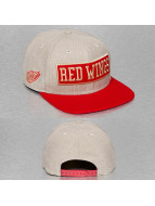 New Era Snapback Cap Box Word Detroit Red Wings grau