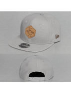 New Era Snapback Cap Canvas Hex Patch 9Fifty grau