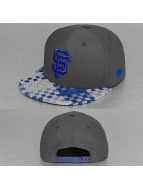 New Era Snapback Cap Woven Visor San Francisco Giants grau