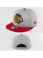 New Era Snapback Cap Team Heather Mesh Chicago Blackhawks grau