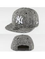 New Era Snapback Cap NY Yankees Black French Terry 9Fifty grau