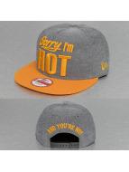 New Era Snapback Cap Sorry Im Hot grey