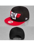 New Era Snapback Cap Slogan Pack Fly nero