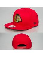 New Era Snapback Cap Cotton Block Chicago Blackhawks red