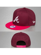 New Era Snapback Cap Kids Cotton Block 5 Atlanta Braves 9Fifty rosso
