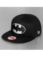 New Era Snapback Cap Black White Basic Batman schwarz