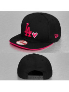 New Era Snapback Cap With Hearts LA Dodgers schwarz