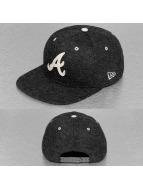 New Era Snapback Cap Felt Wool Atlanta Braves schwarz