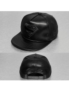 New Era Snapback Cap PU Bevel Superman schwarz