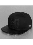 New Era Snapback Cap Leather Twenty 9Fifty schwarz