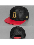 New Era Snapback Cap Leather Wave Boston Red Sox 9Fifty schwarz