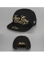 New Era Snapback Cap Black And Golden 9Fifty schwarz