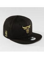 New Era Snapback Cap Golden Chicago Bulls 9Fifty schwarz