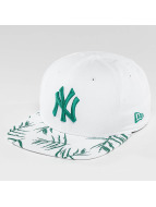 New Era Snapback Cap Sandwash Visor Print NY Yankees weiß