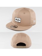 New Era Snapback Caps Rubber Script Patch bezowy