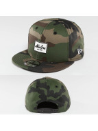 New Era Snapback Caps Rubber Script Patch camouflage