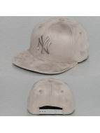 New Era Snapback Caps Suede Tone NY Yankees grå