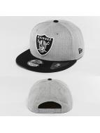 New Era Snapback Caps Team Heather Mesh Oakland Raiders grå