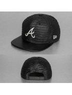 New Era Snapback Caps Leather Wave Atlanta Braves harmaa