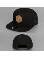 New Era Snapback Caps Canvas Hex Patch 9Fifty musta