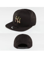 New Era Snapback Caps Camo Metal Logo NY Yankees musta