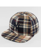 New Era Snapback Caps Spring Plaid NY Yankees 9Fifty ruskea